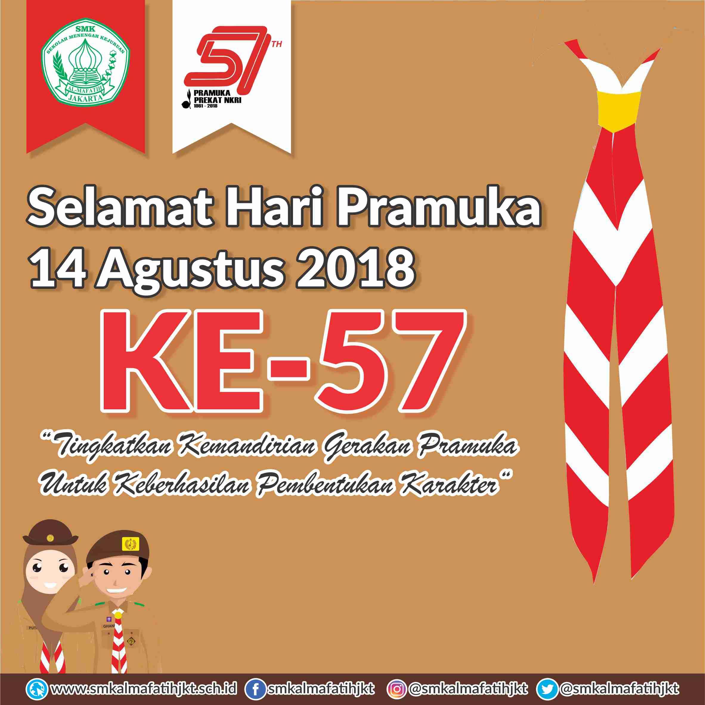 Info HUT Pramuka Ke-57 Tahun 2018